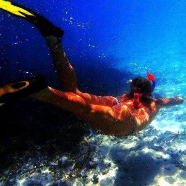 girl diving
